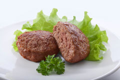 Rissoles de viande Photos stock