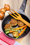 Rissoles with vegetables Royalty Free Stock Photos