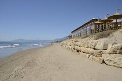 Ristorante alla spiaggia Fotografia Stock Libera da Diritti
