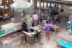 Ristorante birmano, Myanmar immagini stock libere da diritti