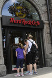 RISTORANTE A CATENA DI HARD ROCK CAFE DELL'AMERICANO Fotografia Stock
