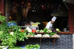Ristorante cinese della via Fotografia Stock Libera da Diritti