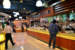 Ristorante cinese di pasto rapido Fotografia Stock Libera da Diritti