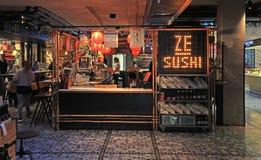 Ristorante cinese moderno nel mercato dell'alimento di Sarona, Tel Aviv Immagini Stock Libere da Diritti
