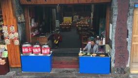 Ristorante cinese situato sulla via di camminata in Hunan archivi video