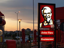 Ristorante degli alimenti a rapida preparazione di KFC Fotografia Stock