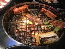 Ristorante del BBQ Tailandia Bangkok della griglia immagini stock libere da diritti