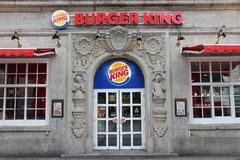 Ristorante del Burger King Immagini Stock