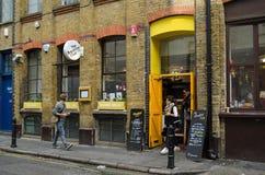 Ristorante del club della prima colazione, Londra Fotografia Stock Libera da Diritti