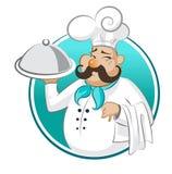Ristorante del cuoco chef illustrazione vettoriale