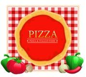 Ristorante del menu della pizza Fotografia Stock Libera da Diritti