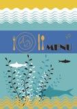 Ristorante del pesce Immagine Stock Libera da Diritti