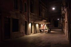 Ristorante del vicolo di Venezia Fotografie Stock