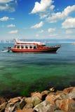 Ristorante della barca Fotografia Stock