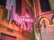 Ristorante della città di Genova Fotografia Stock Libera da Diritti