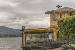 Ristorante della riva del lago a San Pablo Lake Imbabura Ecuador Fotografia Stock