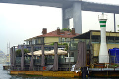 Ristorante della riva di Bosphorus Fotografia Stock
