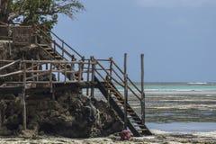 Ristorante della roccia, Zanzibar, Tanzania Fotografia Stock Libera da Diritti