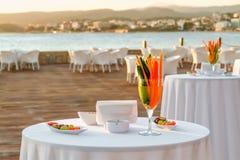 ristorante della spiaggia Immagine Stock Libera da Diritti