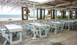 Ristorante della spiaggia con una vista nel Mozambico Fotografia Stock Libera da Diritti