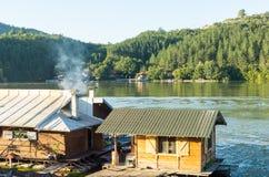 Ristorante di galleggiamento in Moravia occidentale in Serbia Immagini Stock Libere da Diritti