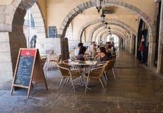 Ristorante di Girona Fotografia Stock