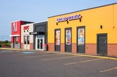 Ristorante di KFC e di Taco Bell immagini stock