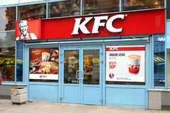 Ristorante di KFC a St Petersburg Fotografia Stock Libera da Diritti