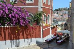 Ristorante di Lisbona, Portogallo Immagine Stock Libera da Diritti