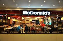 Ristorante di pasto rapido del Mcdonald Fotografie Stock Libere da Diritti