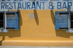 Ristorante e barra, colore del marciapiede fotografia stock