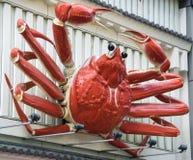 Ristorante giapponese del grande del granchio del segno esterno di manifestazione fotografie stock libere da diritti
