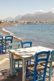 Ristorante greco Fotografie Stock Libere da Diritti