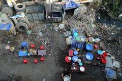 Ristorante, inquinante, rifiuti, rifiuti, avvelenamento, povero immagini stock