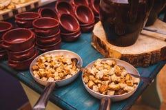 Ristorante italiano variopinto e delizioso saporito del buffet fotografie stock