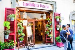 Ristorante locale della bistecca a Firenze fotografia stock libera da diritti