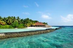 Ristorante maldives di Kurumba Fotografia Stock