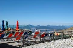 Ristorante nelle montagne, lago Garda immagini stock libere da diritti