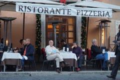 Ristorante-Pizzeria Stockfotografie