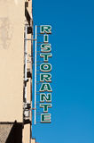 Ristorante Restaurant Sign Stock Images