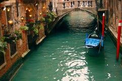Ristorante romantico a Venezia fotografie stock