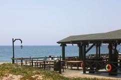 Ristorante sulla spiaggia Fotografia Stock Libera da Diritti