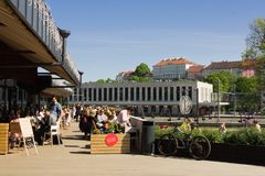 Ristorante a Tallinn calda immagini stock