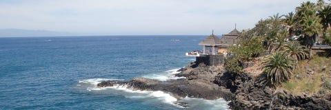 Ristorante Tenerife della spiaggia fotografia stock libera da diritti
