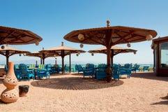 Ristorante tradizionale della spiaggia Fotografie Stock Libere da Diritti