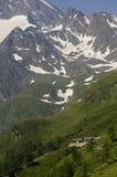 Ristorante un'altezza dei 2509 tester alle montagne delle alpi Fotografie Stock Libere da Diritti