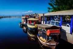 Ristoranti del pesce della città di Yalova Fotografia Stock