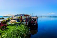 Ristoranti del pesce della città di Yalova Immagine Stock Libera da Diritti