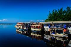 Ristoranti del pesce della città di Yalova Immagini Stock Libere da Diritti