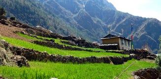 Ristoranti ed hotel nel Khumbu, Nepal Fotografia Stock Libera da Diritti